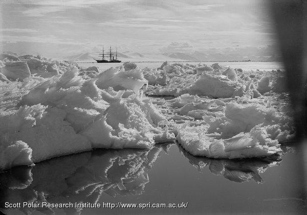 Beautiful broken ice, reflections and Terra Nova. Jan. 7th 1911.