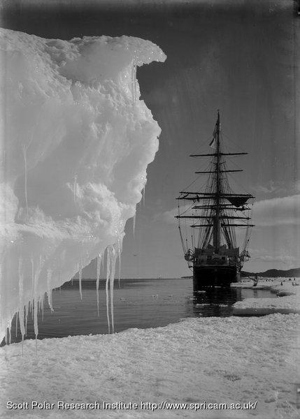 The Terra Nova and a berg at ice-foot. Jan. 16th 1911.