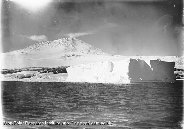 Erebus and stranded berg. Made just when ship struck. Jan. 20th 1911.