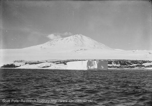 Erebus and berg just as we floated off. 4.45 p.m. Jan. 20th 1911.