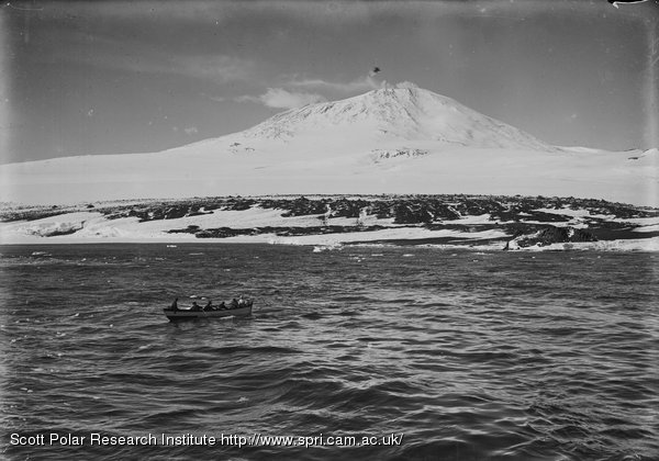 Erebus and whaling boat in foreground. Jan. 20th 1911.