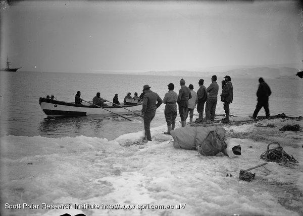 The Whaler leaving for the Terra Nova. Feb. 9th 1911.