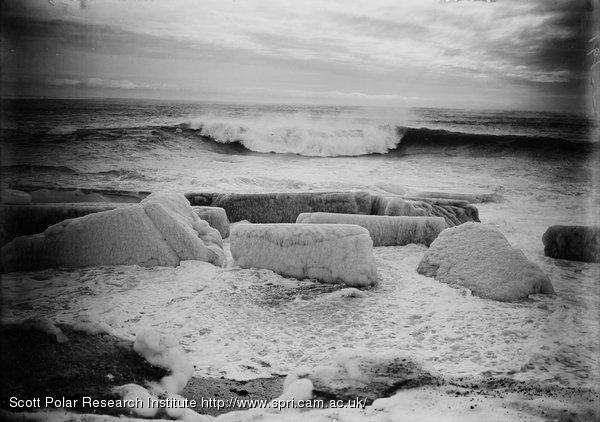 Wave at West Beach. Feb. 28th 1911