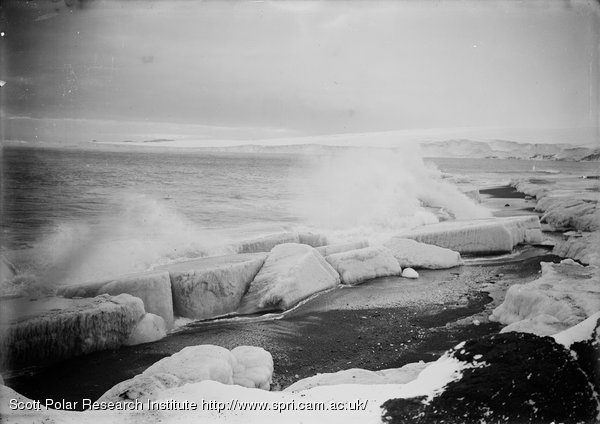 Wave breaking at West Beach. Feb. 28th 1911