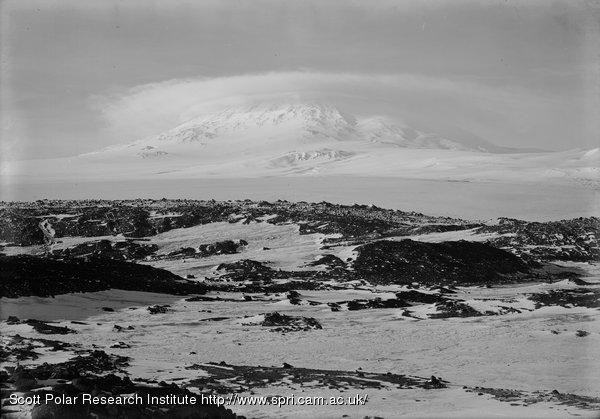 Cloud effect on Mount Erebus