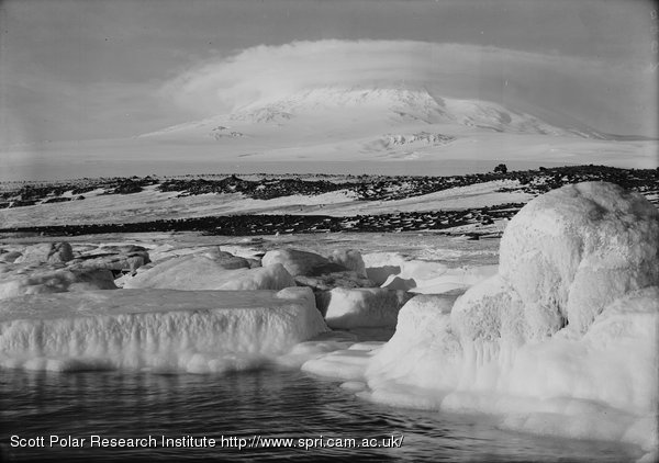 Erebus from West Beach. 5 p.m. March 7th 1911