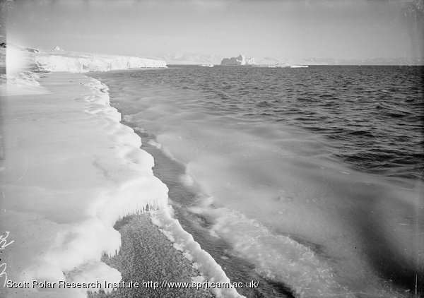 Young ice forming. North wind. North Bay. 2.40 p.m. March 7th 1911