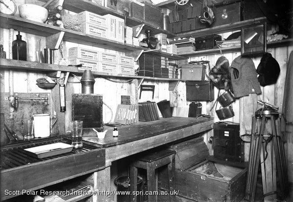 Interior of darkroom. March 24th 1911