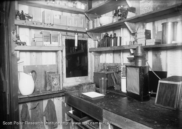 Interior of darkroom - the sink. March 24th 1911
