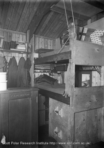 Nelson and Day's Bunks, in the Winterquarters Hut