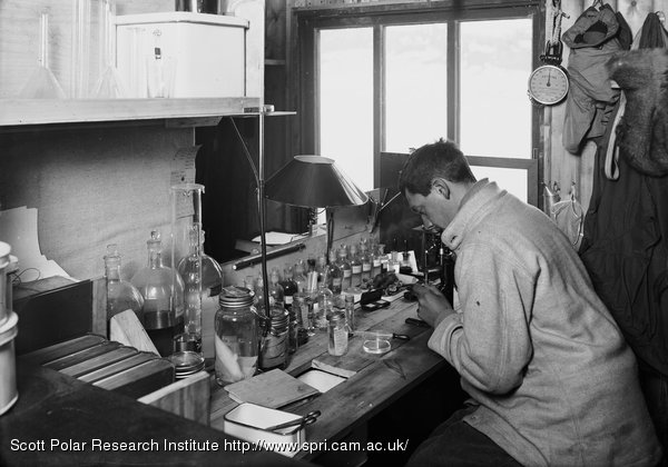 Nelson at work in the 'lab'