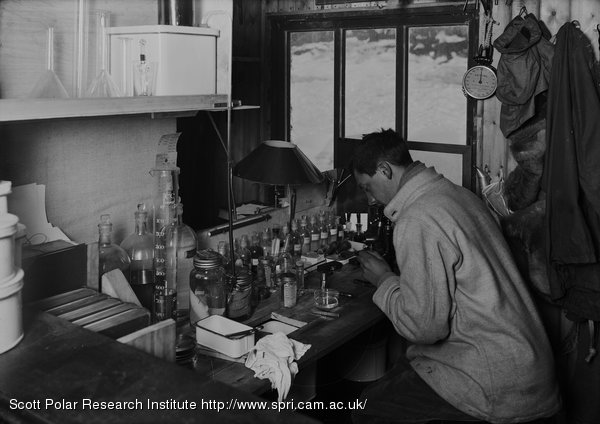 Nelson at work in his Laboratory