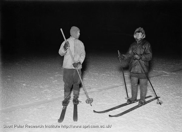 Capt Oates and Meares on ski. June 4th 1911