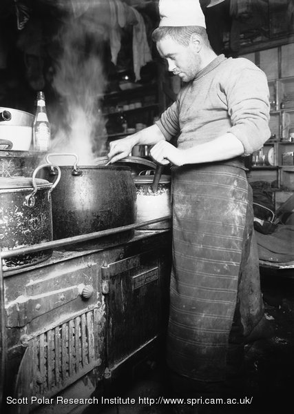 Clissold the Cook at the stove. August 30th 1911